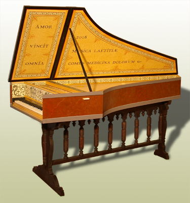 Ruckers Single Manual harpsichord